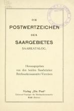 Cover of Die Postwertzeichen des Saargebietes, Saarkatalog