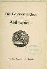 Cover of Die Postwertzeichen von Aethiopien