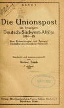 Cover of Die Unionspost im besetzten Deutsch-Südwest-Afrika, 1914-19