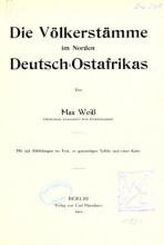 Cover of Die völkerstämme im norden Deutsch-Ostrafrikas