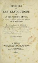 Cover of Discours sur les rel¶olutions de la surface du globe