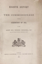 Cover of Eighth report of the Commissioners for the exhibition of 1851 to the Right Hon. Winston Churchill