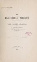 Cover of El cráneo fósil de Arrecifes
