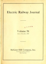 Cover of Electric railway journal