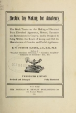Cover of Electric toy making for amateurs