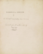 Cover of Elements of geometry