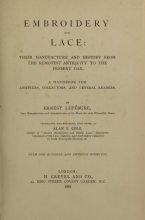 Cover of Embroidery and lace