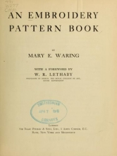 Cover of An embroidery pattern book