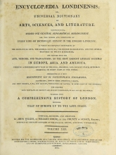 Cover of Encyclopaedia londinensis, or, Universal dictionary of arts, sciences, and literature v.13 (1815)