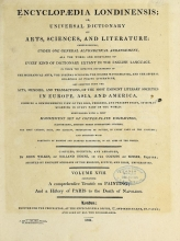 Cover of Encyclopaedia londinensis, or, Universal dictionary of arts, sciences, and literature v.18 (1821)
