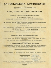 Cover of Encyclopaedia londinensis, or, Universal dictionary of arts, sciences, and literature v.1