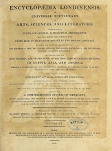 Cover of Encyclopaedia londinensis, or, Universal dictionary of arts, sciences, and literature v.3 (1810)