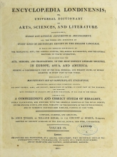 Cover of Encyclopaedia londinensis, or, Universal dictionary of arts, sciences, and literature v.9 (1811)