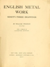 Cover of English metal work