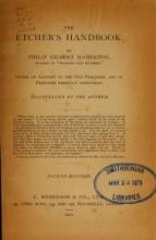 Cover of The etcher's handbook