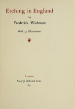 Cover of Etching in England