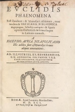 Cover of Euclidis Phaenomena post Zamberti and Maurolyci editionem