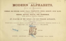 Cover of Examples of modern alphabets, plain and ornamental