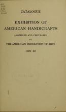 Cover of Exhibition of American handicrafts