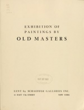 Cover of Exhibition of paintings by old masters, Los Angeles Museum