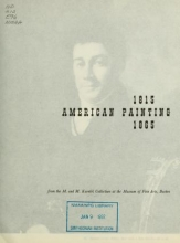 Cover of An exhibit of American painting, 1815-1865