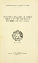 Cover of Expeditions organized or participated in by the Smithsonian Institution