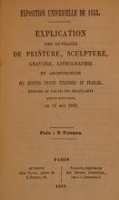 Cover of Explication des ouvrages de peinture, sculpture, gravure, lithographie et architecture des artistes vivants, étrangers et français, exposés au Pala