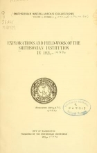 Cover of Explorations and field-work of the Smithsonian Institution in