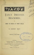 Cover of Fancy dresses described