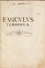 Cover of Fasciculus temporum omnes antiquorum chronicas strictim complectens felici numine incipit