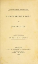 Cover of Father Henson's story of his own life