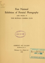Cover of First national exhibition of pictorial photography