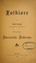 Cover of Folklore