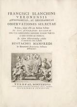 Cover of Francisci Blanchini Veronensis Astronomicae, ac geographicae observationes selectae Romae, atque alibi per Italiam habitae, ex eius autographis excerp