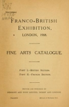 Cover of Franco-British exhibition, London, 1908