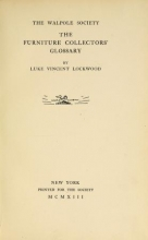 Cover of The furniture collectors' glossary