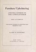 Cover of Furniture upholstering