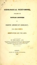 Cover of Geological text-book, prepared for popular lectures on North American geology with applications to agriculture and the arts