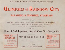 Cover of Glimpses of The Rainbow City, Pan-American Exposition, at Buffalo