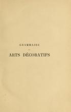 Cover of Grammaire des arts décoratifs, décoration intérieure de la maison