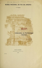 Cover of Guia das collecções de archeologia classica