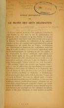 Cover of Guide sommaire a travers le Musée des arts décoratifs