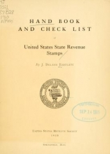 Cover of Hand book and check list of United States state revenue stamps