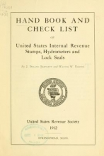 Cover of Hand book and check list of United States Internal Revenue stamps, hydrometers and lock seals