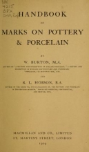 Cover of Handbook of marks on pottery & porcelain