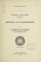 Cover of Harriman Alaska series v.4 (1910)