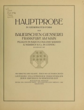Cover of Hauptprobe in gedrängter form der Bauerschen Giesserei, Frankfurt am Main- Filialen in Barcelona und Madrid, A. Numrich & Co. in Leipzig