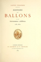 Cover of Histoire des ballons et des aéronautes célèbres