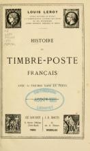 Cover of Histoire de timbre-poste français