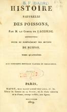 Cover of Histoire naturelle des quadrupèdes-ovipares